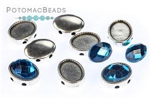 Jewelry Making Supplies & Beads / Metal Beads & Beads Findings / Potomax Metal Multi-Hole Beads / OvalDuo