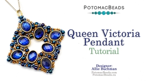 How to Bead / Free Video Tutorials / Pendant Projects / Queen Victoria Pendant Tutorial