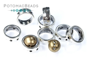 Other Beads & Supplies / Metal Beads & Findings / Potomax Metal Multi-Hole Beads