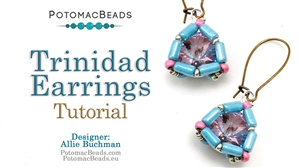 How to Bead Jewelry / Beading Tutorials & Jewel Making Videos / Earring Projects / Trinidad Earrings Tutorial