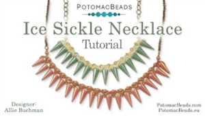 How to Bead Jewelry / Beading Tutorials & Jewel Making Videos / Bead Weaving Tutorials & Necklace Tutorial / Ice Sickle Necklace Tutorial