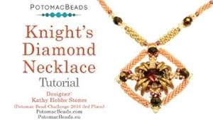 How to Bead Jewelry / Beading Tutorials & Jewel Making Videos / Bead Weaving Tutorials & Necklace Tutorial / Knights Diamond Necklace Tutorial