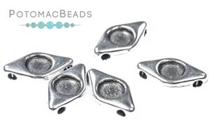 Jewelry Making Supplies & Beads / Metal Beads & Beads Findings / Potomax Metal Multi-Hole Beads / EyeDuo