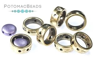 Jewelry Making Supplies & Beads / Metal Beads & Beads Findings / Potomax Metal Multi-Hole Beads / Halo Beads