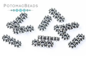 Jewelry Making Supplies & Beads / Metal Beads & Beads Findings / Potomax Metal Multi-Hole Beads / DaisyTrio Spacer