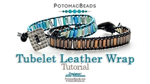 How to Bead Jewelry / Beading Tutorials & Jewel Making Videos / Bracelet Projects / Tubelet Leather Wrap Tutorial