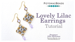 How to Bead Jewelry / Beading Tutorials & Jewel Making Videos / Earring Projects / Lovely Lilac Earrings Tutorial