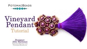 How to Bead Jewelry / Beading Tutorials & Jewel Making Videos / Pendant Projects / Vineyard Pendant Tutorial