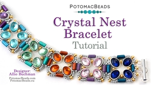 How to Bead / Free Video Tutorials / Bracelet Projects / Crystal Nest Bracelet Tutorial