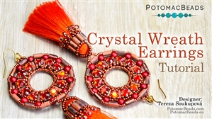 How to Bead Jewelry / Beading Tutorials & Jewel Making Videos / Earring Projects / Crystal Wreath Earrings Tutorial