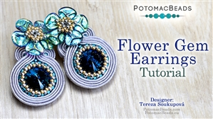 How to Bead / Free Video Tutorials / Earring Projects / Flower Gem Earrings Tutorial