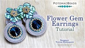 How to Bead / Free Video Tutorials / Earring Projects / Flower Gem Earrings Tutorial