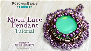 How to Bead Jewelry / Beading Tutorials & Jewel Making Videos / Pendant Projects / Moon Lace Pendant Tutorial