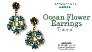 How to Bead / Free Video Tutorials / Earring Projects / Ocean Flower Earrings Tutorial