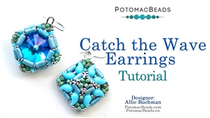 How to Bead Jewelry / Beading Tutorials & Jewel Making Videos / Earring Projects / Catch the Wave Earrings Tutorial