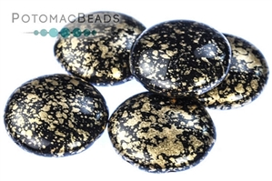 Czech Pressed Glass Beads / 2-Hole Cabochons 18mm