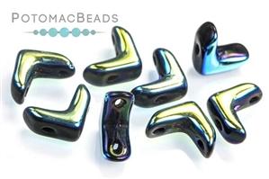 Czech Pressed Glass Beads / Czech Glass & Japanese Two Hole Beads / EVA Beads (The Original Chevron (Duo) Bead)