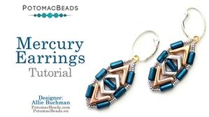 How to Bead Jewelry / Beading Tutorials & Jewel Making Videos / Earring Projects / Mercury Earrings Tutorial