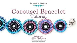 How to Bead Jewelry / Beading Tutorials & Jewel Making Videos / Bracelet Projects / Carousel Bracelet Tutorial