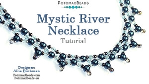 How to Bead / Free Video Tutorials / Necklace Projects / Mystic River Necklace Tutorial