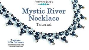 How to Bead Jewelry / Beading Tutorials & Jewel Making Videos / Bead Weaving Tutorials & Necklace Tutorial / Mystic River Necklace Tutorial