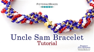 How to Bead Jewelry / Beading Tutorials & Jewel Making Videos / Bracelet Projects / Uncle Sam (Dutch Spiral) Bracelet