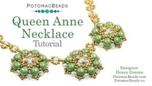 How to Bead Jewelry / Beading Tutorials & Jewel Making Videos / Bead Weaving Tutorials & Necklace Tutorial / Queen Anne Necklace Tutorial