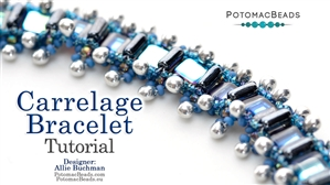 How to Bead Jewelry / Beading Tutorials & Jewel Making Videos / Bracelet Projects / Carrelage Bracelet Tutorial