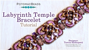 How to Bead / Free Video Tutorials / Bracelet Projects / Labyrinth Temple Bracelet Tutorial