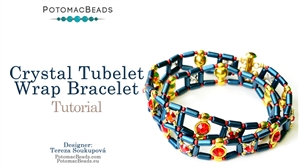 How to Bead Jewelry / Beading Tutorials & Jewel Making Videos / Bracelet Projects / Crystal Tubelet Wrap Tutorial