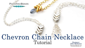 How to Bead Jewelry / Beading Tutorials & Jewel Making Videos / Stringing & Knotting Projects / Chevron Chain Necklace