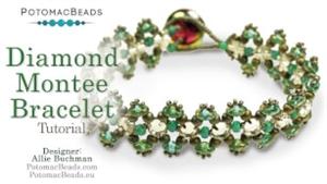 How to Bead Jewelry / Beading Tutorials & Jewel Making Videos / Bracelet Projects / Diamond Montee Bracelet Tutorial