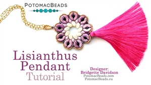 How to Bead / Free Video Tutorials / Pendant Projects / Lisianthus Pendant Tutorial