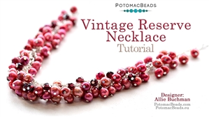 How to Bead / Free Video Tutorials / Necklace Projects / Vintage Reserve Cluster Necklace Tutorial