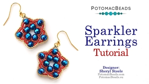 How to Bead / Free Video Tutorials / Earring Projects / Sparkler Earrings Tutorial