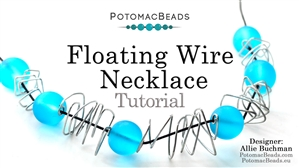 How to Bead Jewelry / Beading Tutorials & Jewel Making Videos / Wire Working Projects / Floating Wire Necklace Tutorial
