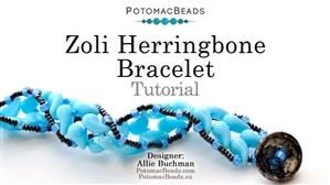 How to Bead Jewelry / Beading Tutorials & Jewel Making Videos / Bracelet Projects / Zoli Herringbone Bracelet Tutorial