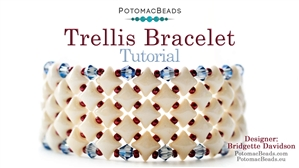 How to Bead Jewelry / Beading Tutorials & Jewel Making Videos / Bracelet Projects / Trellis Bracelet Tutorial