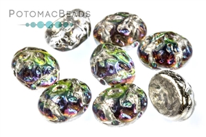 Czech Pressed Glass Beads / Baroque Oval Cabochons 8x6mm