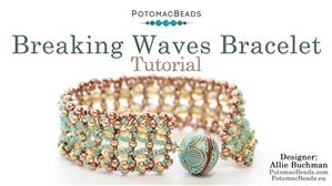 How to Bead Jewelry / Beading Tutorials & Jewel Making Videos / Bracelet Projects / Breaking Waves Bracelet Tutorial