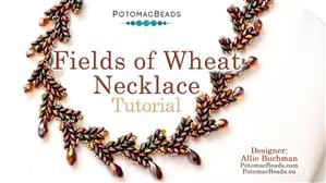 How to Bead Jewelry / Beading Tutorials & Jewel Making Videos / Bead Weaving Tutorials & Necklace Tutorial / Fields of Wheat Necklace Tutorial