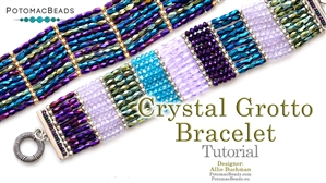 How to Bead Jewelry / Beading Tutorials & Jewel Making Videos / Bracelet Projects / Crystal Grotto Bracelet Tutorial