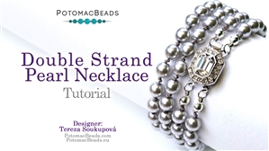 How to Bead / Free Video Tutorials / Necklace Projects / Double Strand Pearl Necklace Tutorial