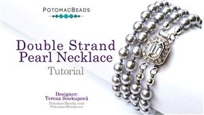 How to Bead Jewelry / Beading Tutorials & Jewel Making Videos / Bead Weaving Tutorials & Necklace Tutorial / Double Strand Pearl Necklace Tutorial