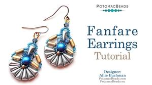 How to Bead / Free Video Tutorials / Earring Projects / Fanfare Earrings Tutorial