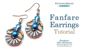 How to Bead Jewelry / Beading Tutorials & Jewel Making Videos / Earring Projects / Fanfare Earrings Tutorial