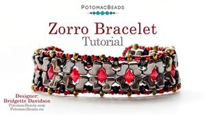 How to Bead Jewelry / Beading Tutorials & Jewel Making Videos / Bracelet Projects / Zorro Bracelet Tutorial