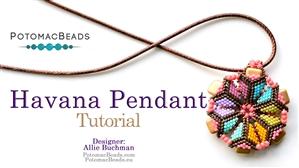 How to Bead Jewelry / Beading Tutorials & Jewel Making Videos / Pendant Projects / Havana Pendant Tutorial