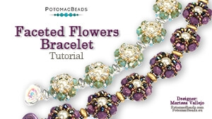How to Bead Jewelry / Beading Tutorials & Jewel Making Videos / Bracelet Projects / Faceted Flowers Bracelet Tutorial