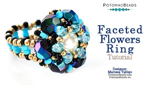 How to Bead / Free Video Tutorials / Ring Projects / Faceted Flowers Ring Tutorial